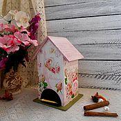 Для дома и интерьера ручной работы. Ярмарка Мастеров - ручная работа Чайный домик «Fleurs Romantiques» - декупаж чайная шкатулка винтаж. Handmade.