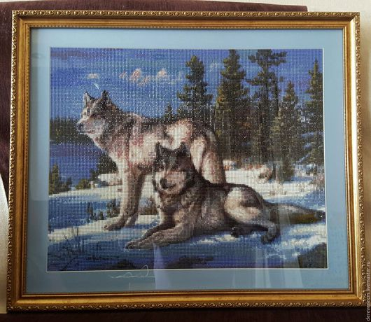 Алмазная мозаика `Волки`