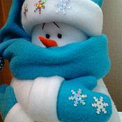 Снеговики ручной работы. Ярмарка Мастеров - ручная работа Снеговичок. Handmade.