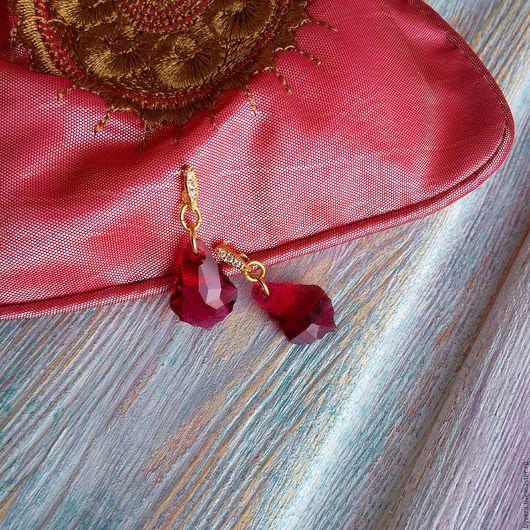 Серьги ручной работы. Ярмарка Мастеров - ручная работа. Купить Серьги Baroque Ruby. Handmade. Комбинированный, серьги с кристаллами
