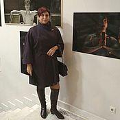 Одежда ручной работы. Ярмарка Мастеров - ручная работа 346: женское пальто оверсайз, демисезонное пальто летучая мышь. Handmade.