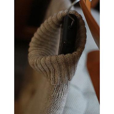 Одежда ручной работы. Ярмарка Мастеров - ручная работа Пуловер бесшовный из смесовой шерсти LIBERTINA беж. Handmade.