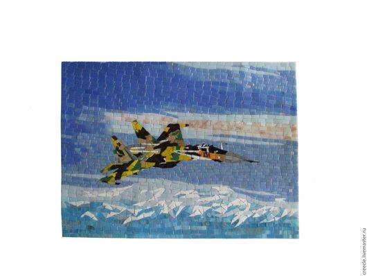 """Репродукции ручной работы. Ярмарка Мастеров - ручная работа. Купить Мозаичное панно """"СУ-35"""". Handmade. Комбинированный, самолет"""