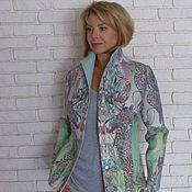 Одежда ручной работы. Ярмарка Мастеров - ручная работа Жакет валяный из мериносовой шерсти Мятный каприз. Handmade.