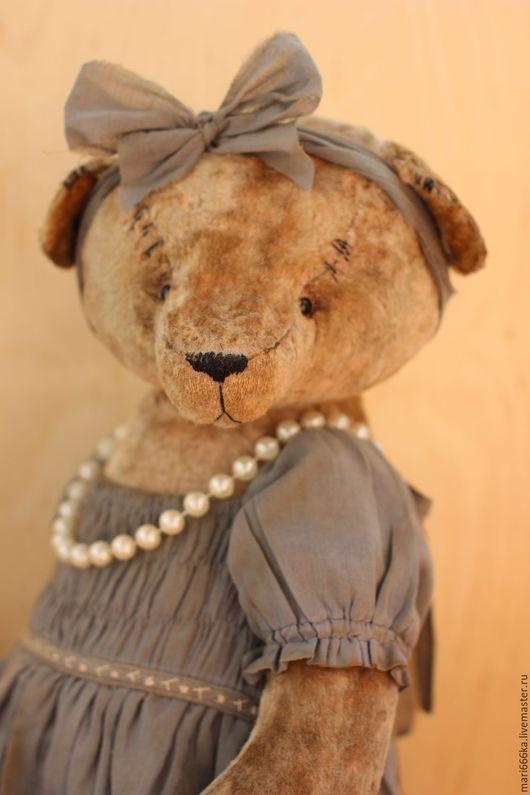 Мишки Тедди ручной работы. Ярмарка Мастеров - ручная работа. Купить Антонина.. Handmade. Серый, плюш