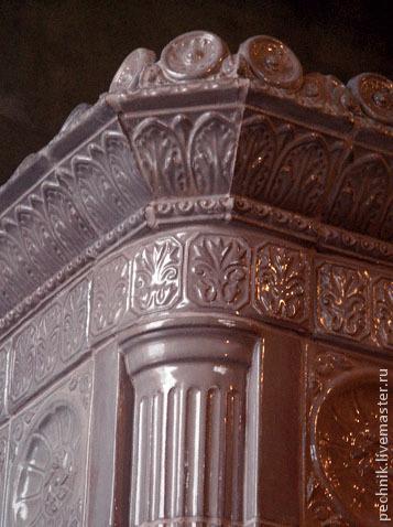 Элементы интерьера ручной работы. Ярмарка Мастеров - ручная работа. Купить Камин-печь в классическом стиле. Handmade. Бежевый, глина
