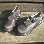 Обувь ручной работы. Ярмарка Мастеров - ручная работа Кожаные туфли Из Детства. Handmade.