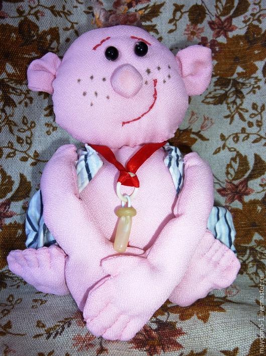Куклы-младенцы и reborn ручной работы. Ярмарка Мастеров - ручная работа. Купить Кукла Вовочка. Handmade. Бледно-розовый, из ткани