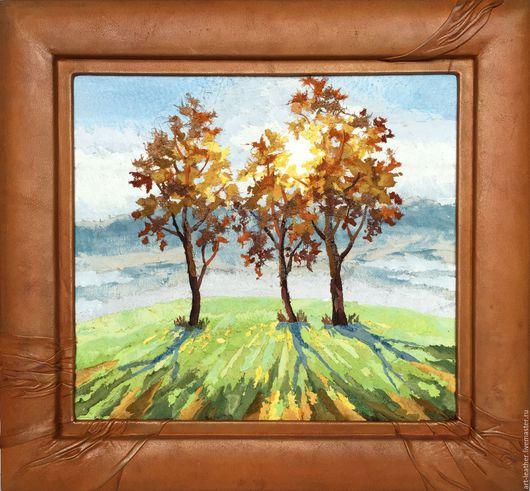 """Пейзаж ручной работы. Ярмарка Мастеров - ручная работа. Купить """" Осеннее солнце..."""". Handmade. Эксклюзивная картина"""