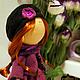 Коллекционные куклы ручной работы. Кукла интерьерная в фиолетовом. Леся Куралеся (Олеся). Интернет-магазин Ярмарка Мастеров. подарок