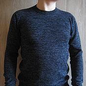 """Пуловеры ручной работы. Ярмарка Мастеров - ручная работа Пуловеры: Вязаный мужской пуловер """"Navy mix"""". Handmade."""