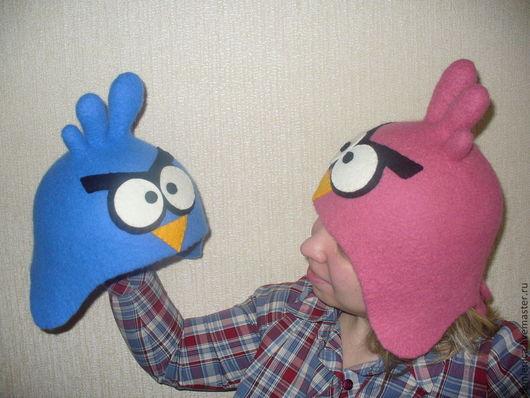 """Банные принадлежности ручной работы. Ярмарка Мастеров - ручная работа. Купить Войлочная шапка """"Angry Birds - пара птичек"""". Handmade."""