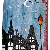 Канцелярские товары ручной работы. Ярмарка Мастеров - ручная работа Обложка Звёздная ночь. Handmade.
