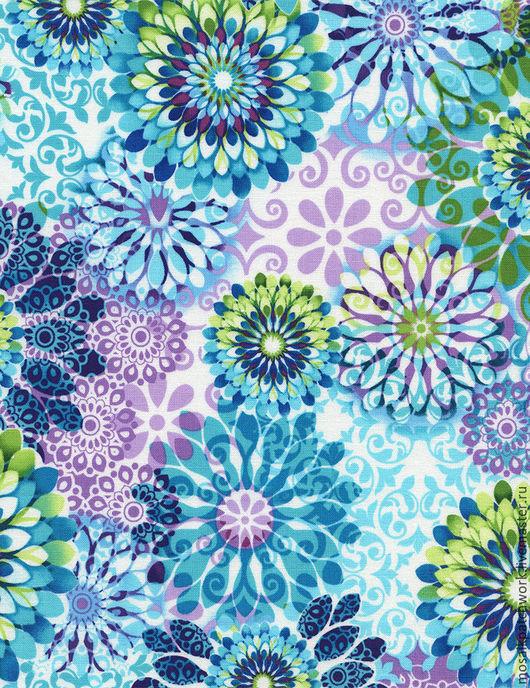 """Шитье ручной работы. Ярмарка Мастеров - ручная работа. Купить Хлопок ткани америки  """"Цветы"""". Handmade. Комбинированный, цветы"""