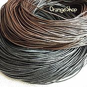 Материалы для творчества ручной работы. Ярмарка Мастеров - ручная работа Шнур кожаный 1-1.5-2 мм черный, коричневый. Handmade.