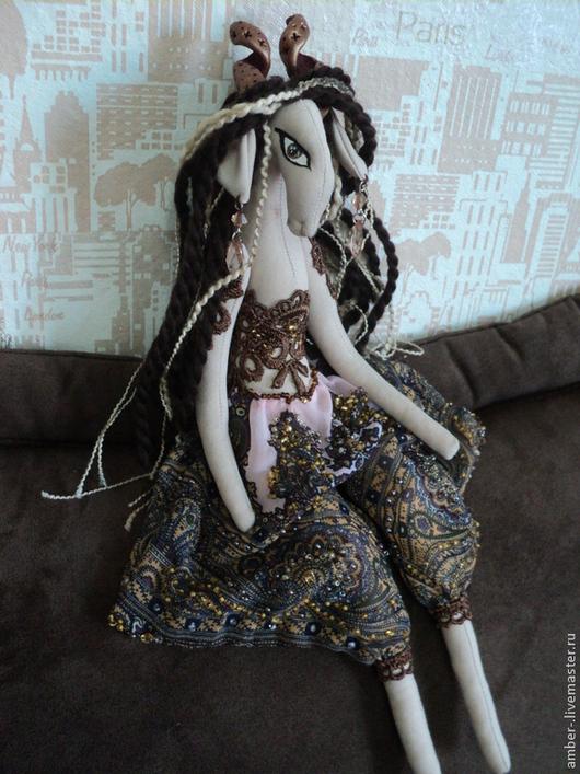 Коллекционные куклы ручной работы. Ярмарка Мастеров - ручная работа. Купить Алсу. Handmade. Коричневый, 2015 год, текстильная кукла