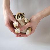 Куклы и игрушки ручной работы. Ярмарка Мастеров - ручная работа Лемур валяный ручной:). Handmade.
