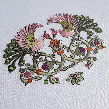 Для дома и интерьера ручной работы. Ярмарка Мастеров - ручная работа Программа для вышивки на салфетках Сказочные птицы. Handmade.
