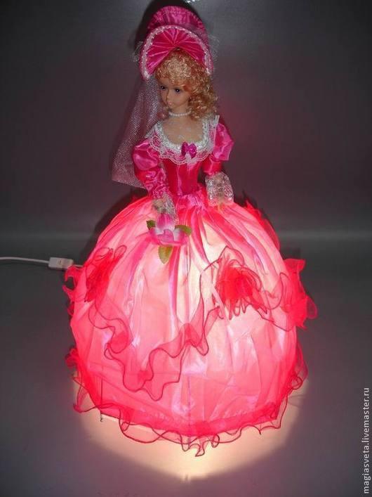 Освещение ручной работы. Ярмарка Мастеров - ручная работа. Купить Кукла музыкальная. Handmade. Тёмно-синий, кукла, ночник