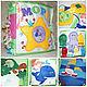 Развивающие игрушки ручной работы. Ярмарка Мастеров - ручная работа. Купить Развивающая книга для малышей от 6 месяцев и до.... Handmade. Комбинированный