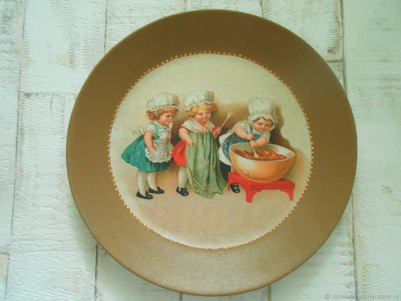 Декоративная тарелка Поварята, Тарелки, Всеволожск,  Фото №1