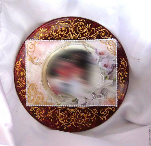 Декоративная посуда ручной работы. Ярмарка Мастеров - ручная работа. Купить Тарелка декоративная с фото. Handmade. Ярко-красный