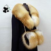 handmade. Livemaster - original item Fur sets fur red Fox. Collar and clutch bag. Handmade.