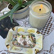 Винтаж handmade. Livemaster - original item Cherubim-little angels. Ashtray by Capodimonte Italy. Handmade.