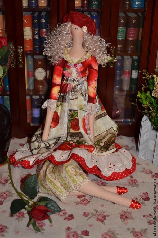 Куклы Тильды ручной работы. Ярмарка Мастеров - ручная работа. Купить Тильда,,Весна в Провансе,,. Handmade. Ярко-красный, Франция