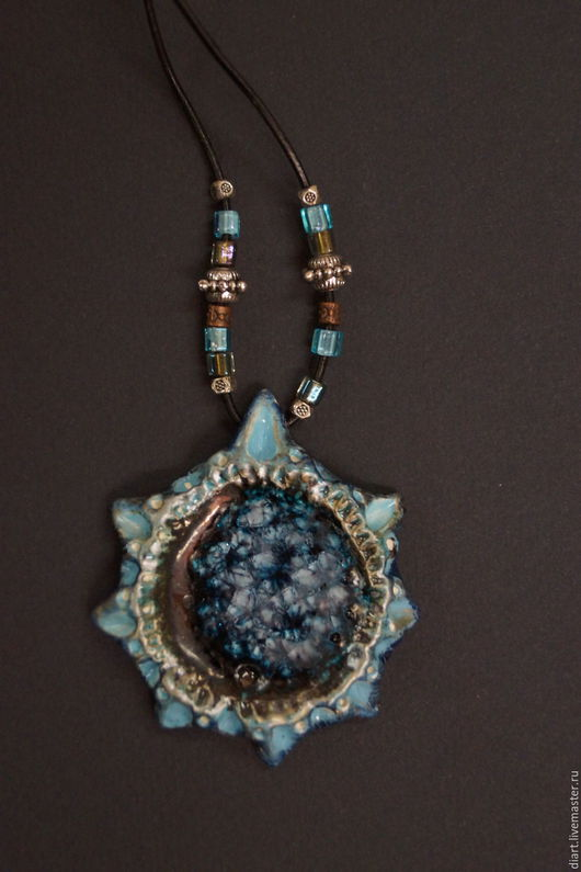 Necklaces & Beads handmade. Livemaster - handmade. Buy The blue star.Exclusive, decoration on the neck