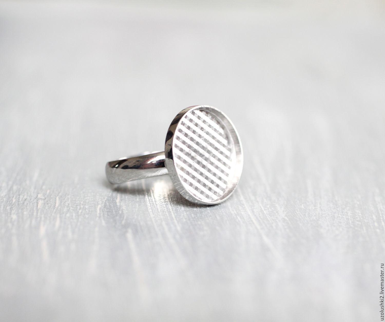 Основа для кольца из серебра 925 пробы, Заготовки для украшений, Магнитогорск,  Фото №1