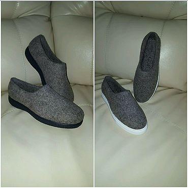 Обувь ручной работы. Ярмарка Мастеров - ручная работа Слипоны валяные. Handmade.