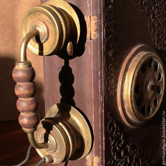 """Прихожая ручной работы. Ярмарка Мастеров - ручная работа. Купить Ключница """"Старинный телефон"""". Handmade. Коричневый, вешалка для ключей"""