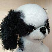 Stuffed Toys handmade. Livemaster - original item Japanese hin knitted dog real size. Handmade.