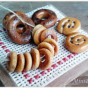Куклы и игрушки handmade. Livemaster - original item Bagels and bagels for Dollhouse miniature Food for dolls. Handmade.