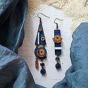 Earrings handmade. Livemaster - original item Earrings asymmetric: Storm. Handmade.