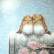 Картины и панно ручной работы. Ярмарка Мастеров - ручная работа Вместе теплее. Handmade.