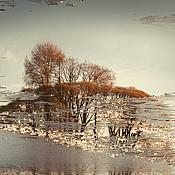 Картины и панно ручной работы. Ярмарка Мастеров - ручная работа Фотокартина природа осенний пейзаж «Хрустальная дорога Осени». Handmade.