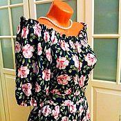Одежда ручной работы. Ярмарка Мастеров - ручная работа Штапельное платье в пол Вивьен. Handmade.