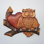 """Для дома и интерьера ручной работы. Ярмарка Мастеров - ручная работа Ключница """"Совушка с сердечком"""". Handmade."""