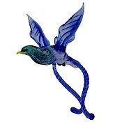 Для дома и интерьера ручной работы. Ярмарка Мастеров - ручная работа Интерьерное подвесное украшение из цветного стекла птица Лирахвост Cua. Handmade.