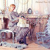 Одежда handmade. Livemaster - original item Handmade felted Winter suit Grey pearls. Handmade.