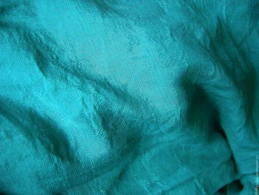 Хлопок шифон бирюзово-зеленый
