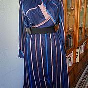Винтажная одежда ручной работы. Ярмарка Мастеров - ручная работа Винтажное платье. Тонкий трикотин.. Handmade.