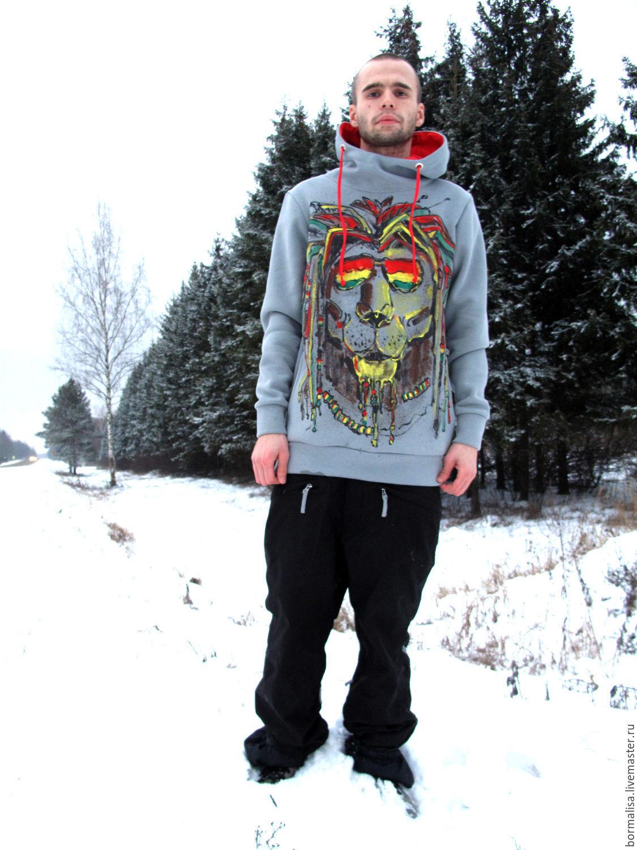 Sweatshirt LION, Mens jumpers, Ivanovo,  Фото №1
