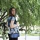 Городской пейзаж сумка для девушки сумка для студентки повседневная сумка джинсовая сумка