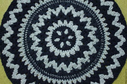 Текстиль, ковры ручной работы. Ярмарка Мастеров - ручная работа. Купить вязанные коврики из шерсти. Handmade. Разноцветный