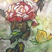 Картины и панно ручной работы. Ярмарка Мастеров - ручная работа Батик картина.Роза.. Handmade.