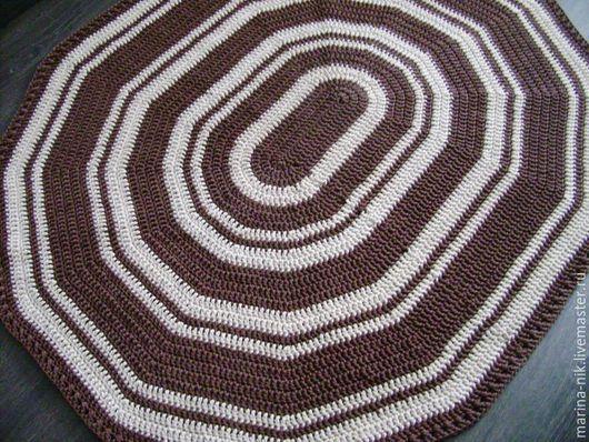Текстиль, ковры ручной работы. Ярмарка Мастеров - ручная работа. Купить Ковер Кофе и сливки. Handmade. Ковер из шнура