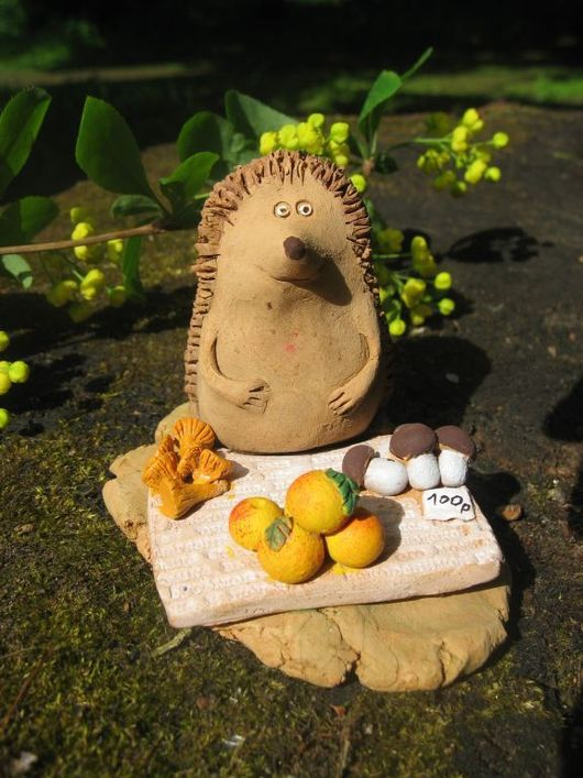Animal Toys handmade. Livemaster - handmade. Buy Hedgehogs.Toys, ceramics
